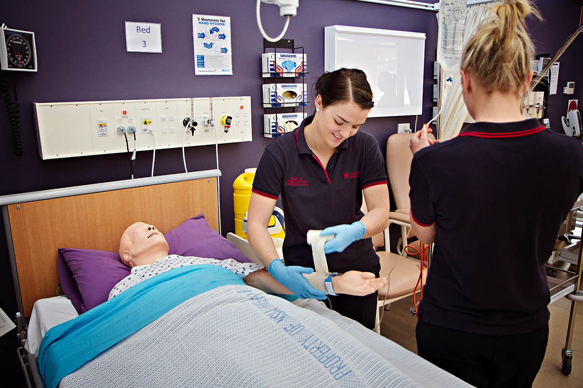 Before stepping into the hospital, learn to be the best carer you can in our simulated hospital settings.