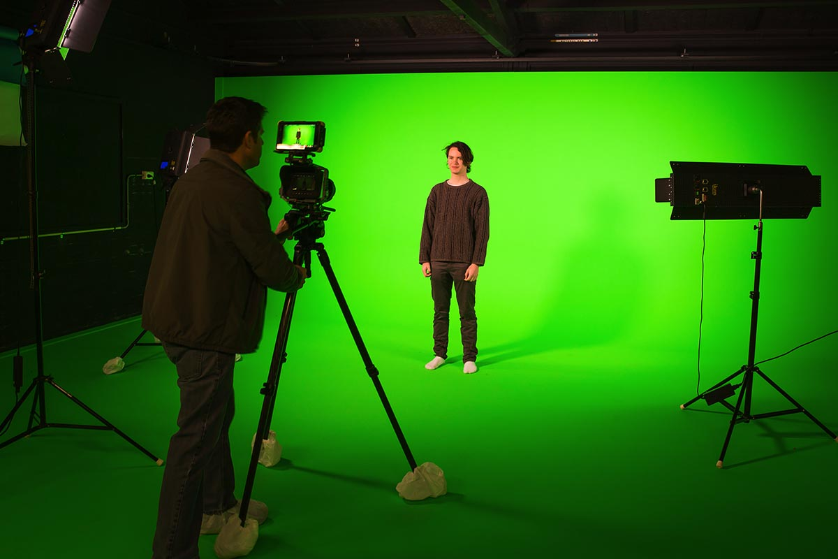 Learn with the latest tech, including 3D technology and a green-screen studio.